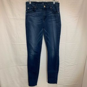 7 for all mankind mid rise ankle skinny size 30